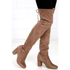 Chinese Laundry Kiara Suede Over the Knee Boots